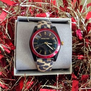 ❤️Michael Kors Channing Leopard Watch